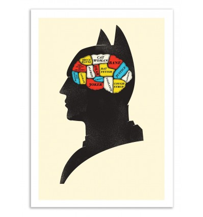 Art-Poster 50 x 70 cm - Batman Phrenology - Chris Wharton