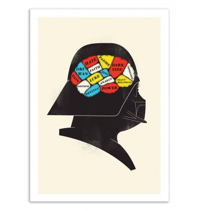 Art-Poster 50 x 70 cm - Darth Phrenology - Chris Wharton