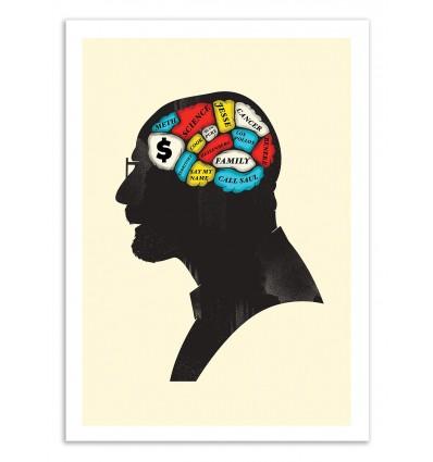 Art-Poster 50 x 70 cm - Heisenberg Phrenology - Chris Wharton