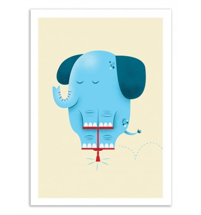 Art-Poster 50 x 70 cm - Pogolephant - Chris Wharton
