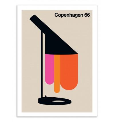 Art-Poster 50 x 70 cm - Copenhagen 66 - Bo Lundberg