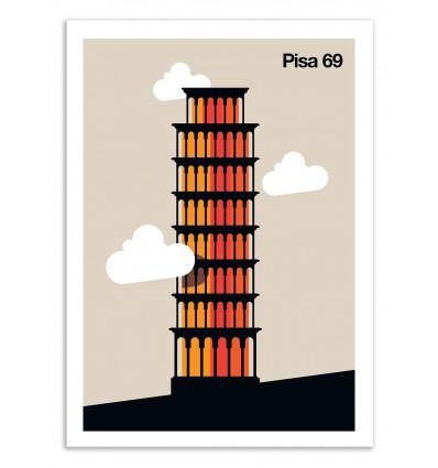 Art-Poster 50 x 70 cm - Pisa 69 - Bo Lundberg