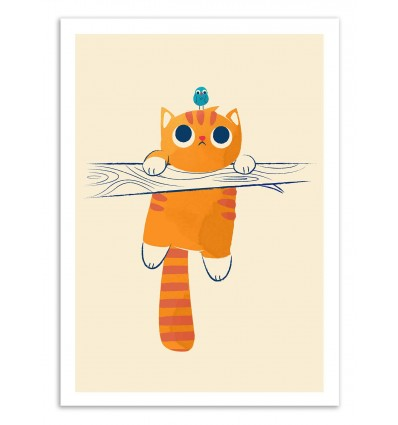 Art-Poster 50 x 70 cm - Fat cat, little bird - Jay Fleck