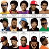 Art-Poster 50 x 70 cm - Legendary Rappers Chronology - Olivier Bourdereau