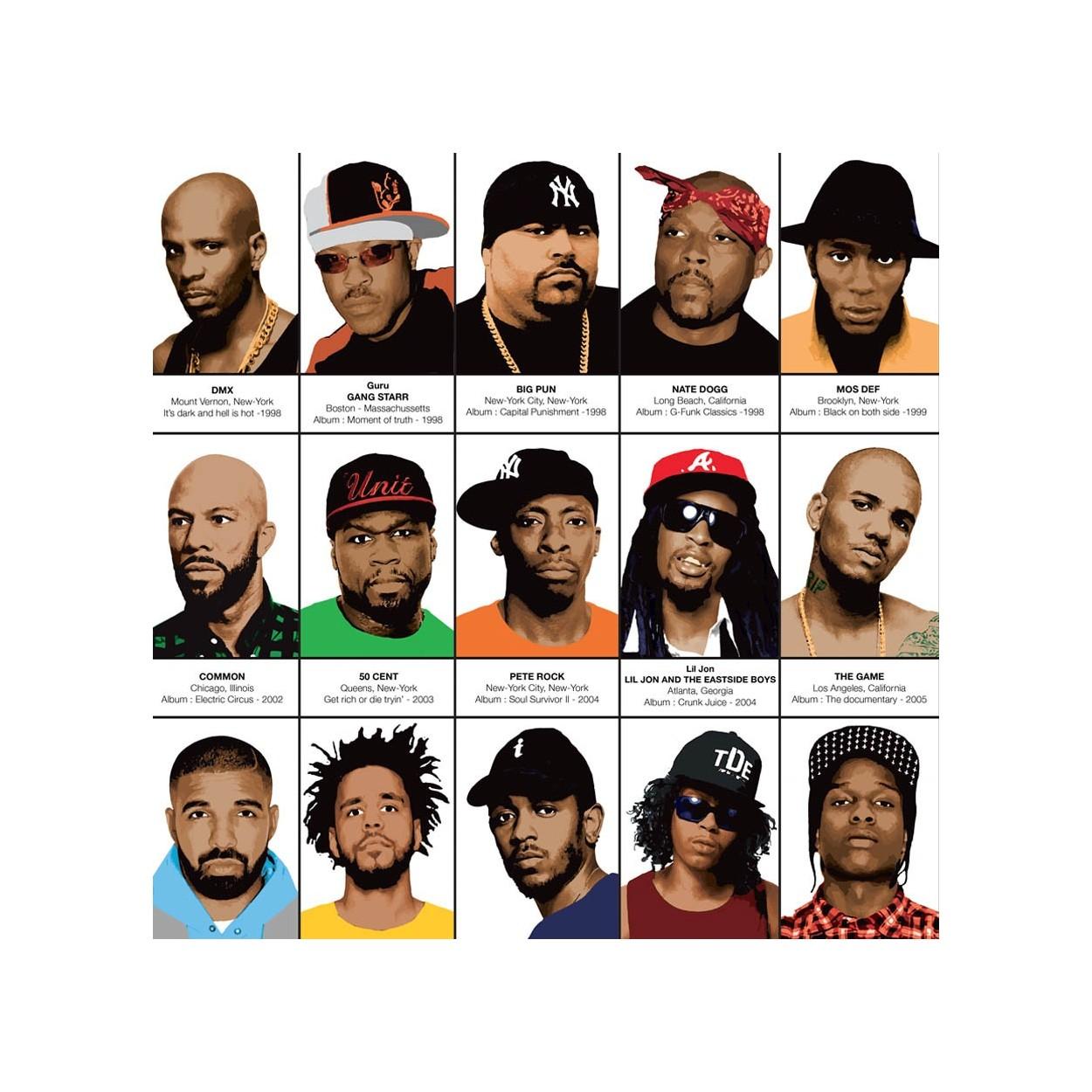affiche d 39 art tableau et poster design de rap hip hop et rappeurs. Black Bedroom Furniture Sets. Home Design Ideas