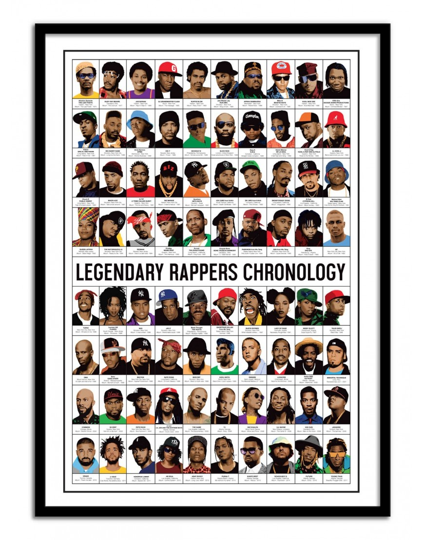 affiche d 39 art tableau et poster design de rap hip hop. Black Bedroom Furniture Sets. Home Design Ideas