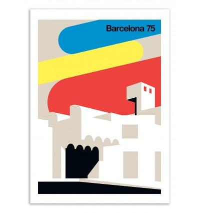 Art-Poster 50 x 70 cm - Barcelona 75  - Bo Lundberg