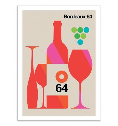 Art-Poster 50 x 70 cm - Bordeaux 64  - Bo Lundberg
