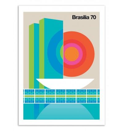 Art-Poster 50 x 70 cm - Brasilia 70 - Bo Lundberg