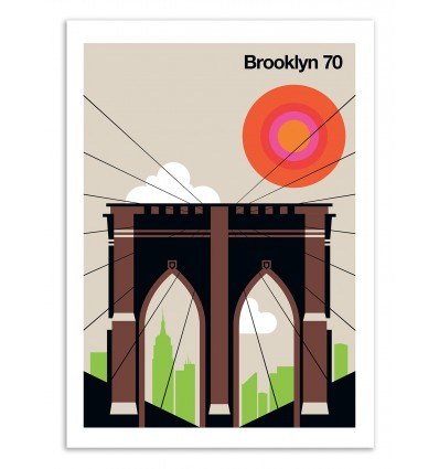 Art-Poster 50 x 70 cm - Brooklyn 70 - Bo Lundberg