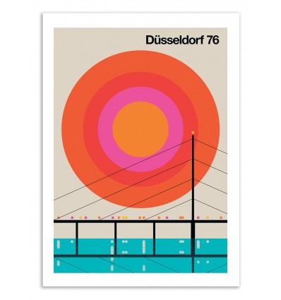 Art-Poster 50 x 70 cm - Düsseldorf 76 - Bo Lundberg