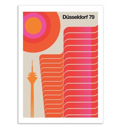 Art-Poster 50 x 70 cm - Düsseldorf 79 - Bo Lundberg