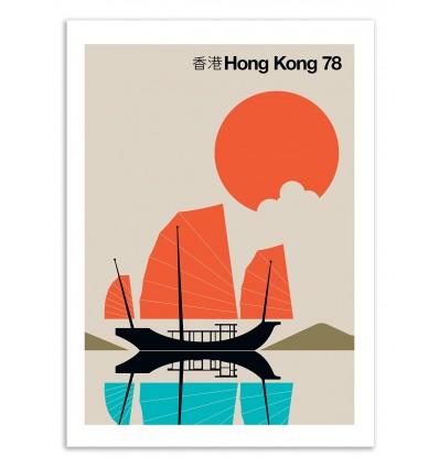 Art-Poster 50 x 70 cm - Hong-Kong 78 - Bo Lundberg