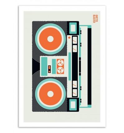 Art-Poster 50 x 70 cm - Ghetto Blaster - Bo Lundberg