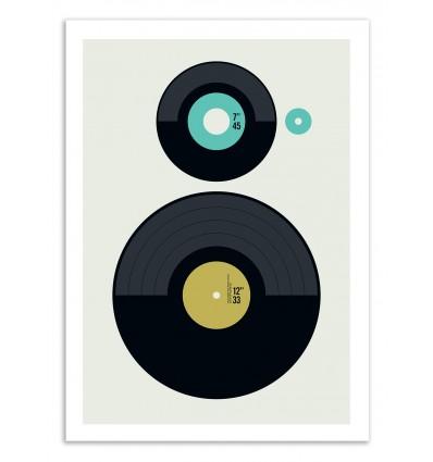 Art-Poster 50 x 70 cm - LP vs EP - Bo Lundberg