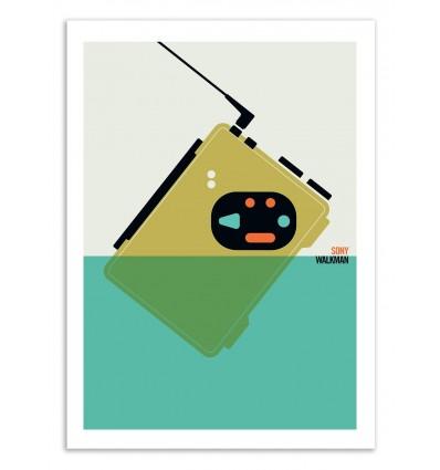 Art-Poster 50 x 70 cm - Walkman - Bo Lundberg