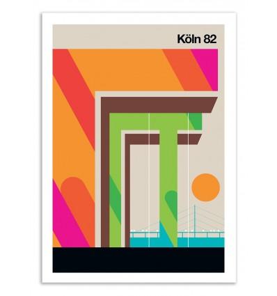 Art-Poster 50 x 70 cm - Köln 82 - Bo Lundberg