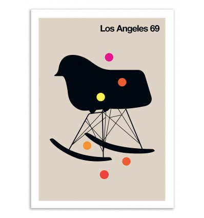 Art-Poster 50 x 70 cm - Los Angeles 81 - Bo Lundberg