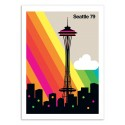 Art-Poster - Seattle 79 - Bo Lundberg