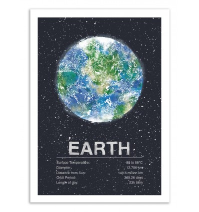 Art-Poster 50 x 70 cm - Earth - Tracie Andrews