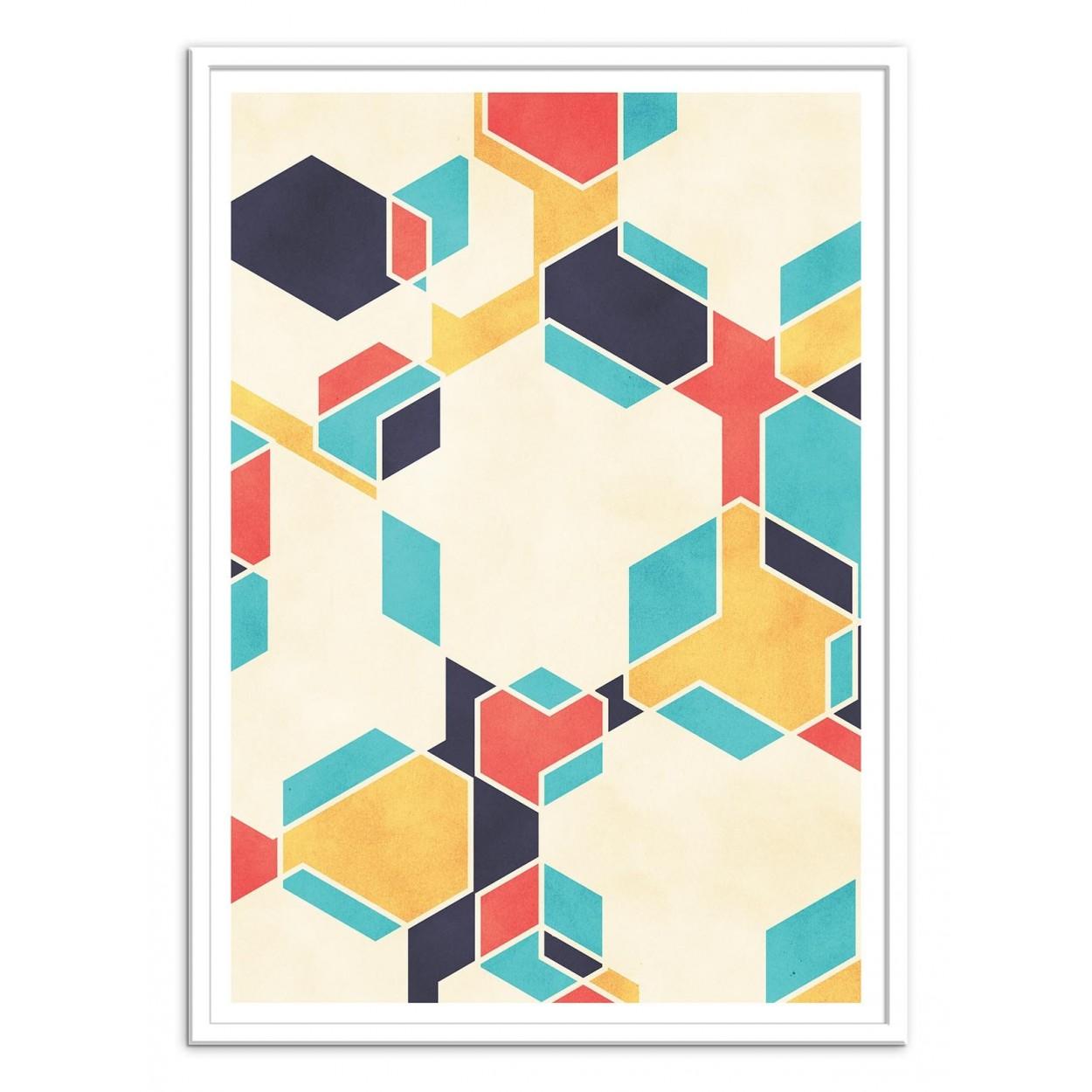 affiche art poster decoration illustration abstraite art contemporain. Black Bedroom Furniture Sets. Home Design Ideas