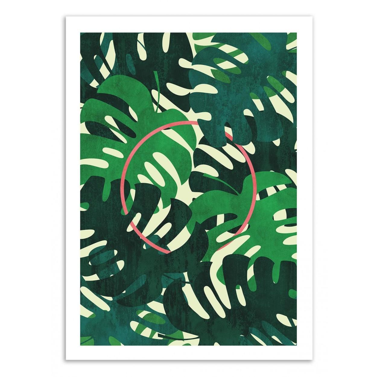 affiche art poster decoration illustration design de jungle et for t. Black Bedroom Furniture Sets. Home Design Ideas
