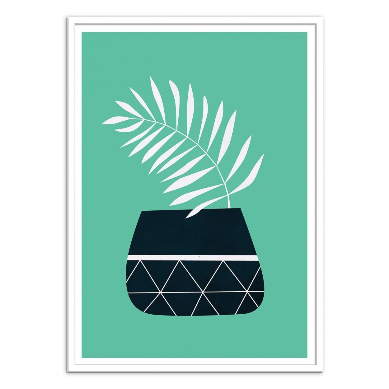 affiche art poster et decoration d 39 un pot de fleur plante design. Black Bedroom Furniture Sets. Home Design Ideas