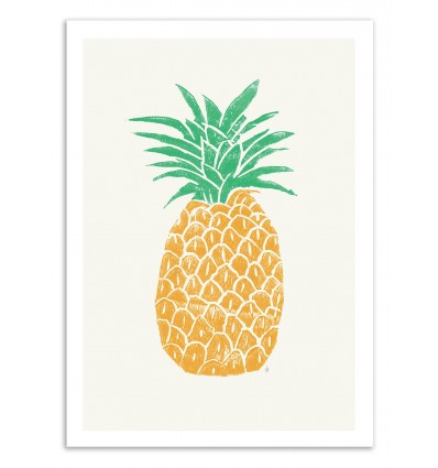 Art-Poster 50 x 70 cm - Pineapple - Tracie Andrews
