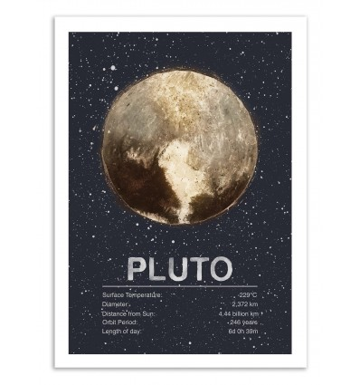 Art-Poster 50 x 70 cm - Pluto - Tracie Andrews