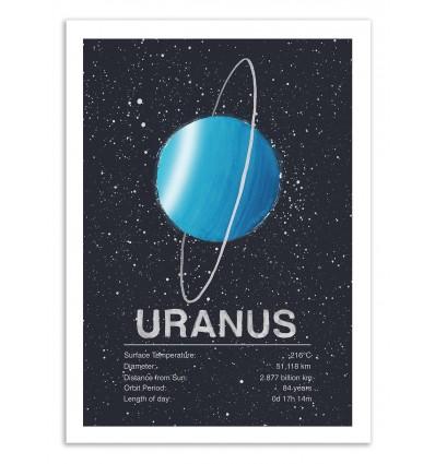 Art-Poster 50 x 70 cm - Uranus - Tracie Andrews