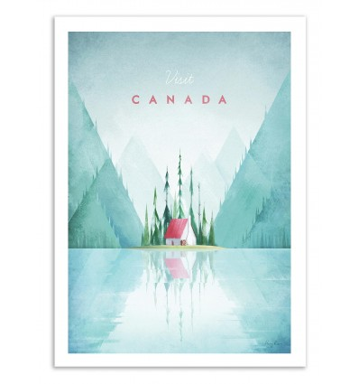 Art-Poster 50 x 70 cm - Visit Canada - Henry Rivers