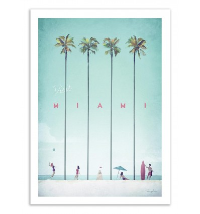 Art-Poster 50 x 70 cm - Visit Miami - Henry Rivers