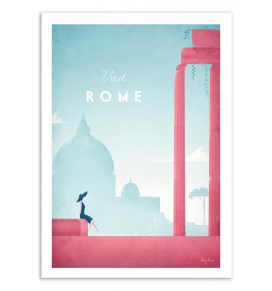 Art-Poster 50 x 70 cm - Visit Rome - Henry Rivers