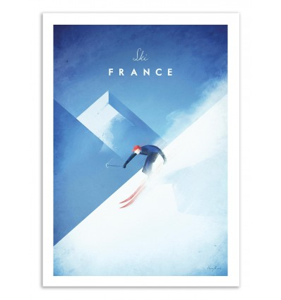 Art-Poster 50 x 70 cm - Ski France - Henry Rivers
