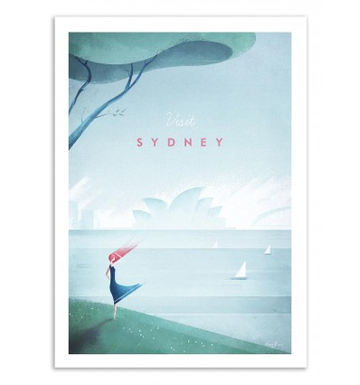 Art-Poster 50 x 70 cm - Visit Sydney - Henry Rivers