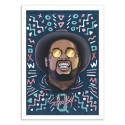 Art-Poster - Schoolboy Q Portrait 2 - Bokkaboom