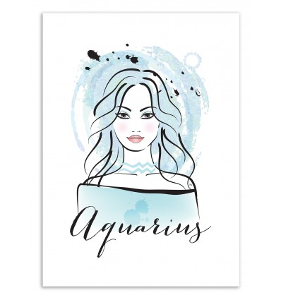 Art-Poster 50 x 70 cm - Aquarius - Martina Pavlova