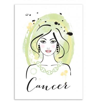 Art-Poster 50 x 70 cm - Cancer - Martina Pavlova
