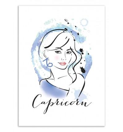 Art-Poster 50 x 70 cm - Capricorn - Martina Pavlova