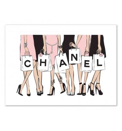 Art-Poster 50 x 70 cm - Chanel women - Martina Pavlova