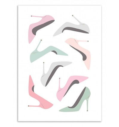 Art-Poster 50 x 70 cm - Loving shoes - Martina Pavlova