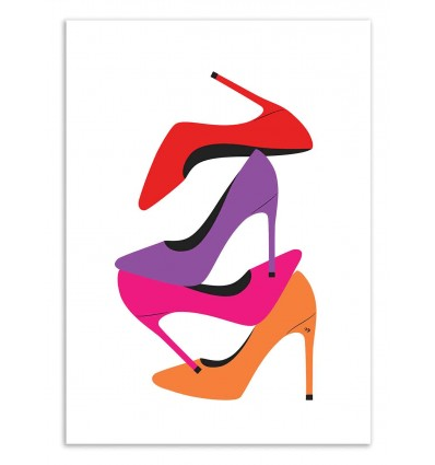 Art-Poster 50 x 70 cm - Loving shoes 2 - Martina Pavlova