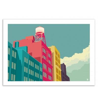 Art-Poster 50 x 70 cm - E10 Street NYC - Remko Heemskerk
