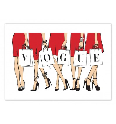 Art-Poster 50 x 70 cm - Vogue women - Martina Pavlova