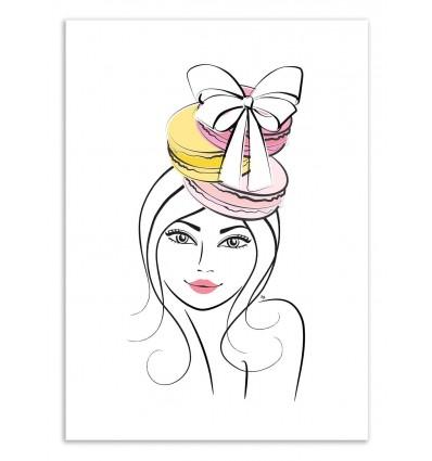 Art-Poster 50 x 70 cm - Loving Macarons - Martina Pavlova