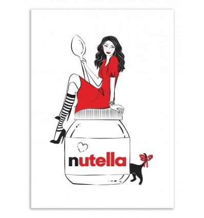 Art-Poster 50 x 70 cm - Loving Nutella - Martina Pavlova