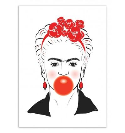 Art-Poster 50 x 70 cm - Bubble Frida - Martina Pavlova