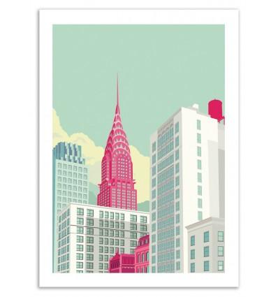Art-Poster - Park avenue NYC - Remko Heemskerk