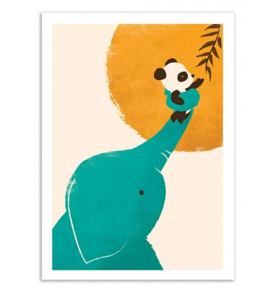 Art-Poster 50 x 70 cm - Panda's little helper - Jay Fleck