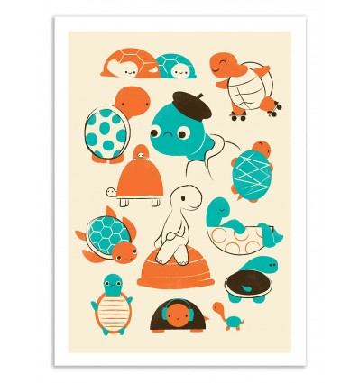 Art-Poster 50 x 70 cm - Turtles - Jay Fleck